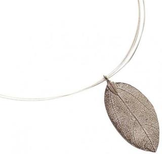 Halsband silver rosa halsband BRIANNA rosenblad halsband 925 Silver