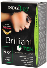 DermaV10 Brilliant Ten Hair Colour Black 1 kpl