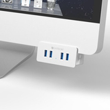 Satechi USB 3.0 Clamp hubb av aluminium - 4 portar