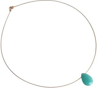 MyAngels Jade halskjede blå gemstone halskjede blå jade halskjede g...