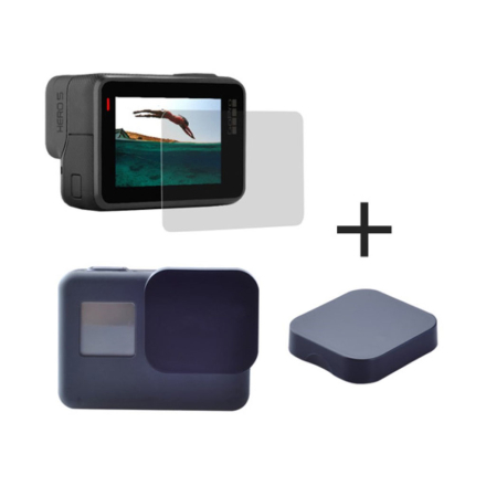 GoPro Hero 5 2st skärmskydd + 2st kamera linsskydd