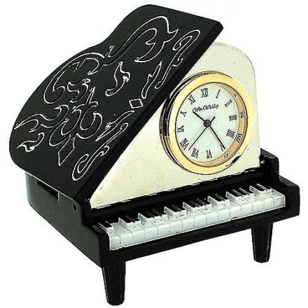 The Emporium Miniature Baby Grand Piano Black & hvid nyhed samlere ...