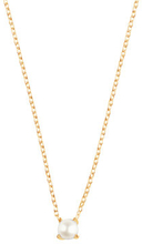 Petite pearl necklace gold, ONE SIZE