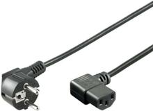 Power cable C13 2x90° - Black - 3m