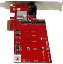 2x M.2 NGFF SSD RAID Controller Card plus 2x SATA III Ports - PCIe