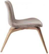Goose Lounge Chair - Velvet: Frame-Natural Fabric-Velvet-Taupe 710