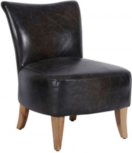 MERE Lounge chair - Leather fudge