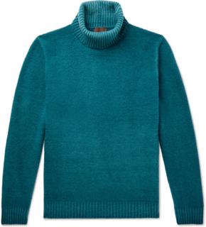 Virgin Wool Rollneck Sweater - Blue