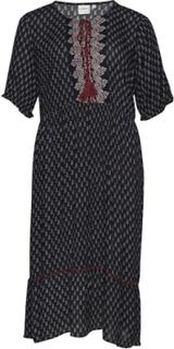 Jraviaya 2/4 Sl Midi Dress - K Knælang Kjole Sort JunaRose