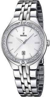 Festina klocka Miss F16867-1 - klocka datum silver kvinna