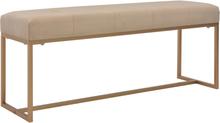 vidaXL Bänk 120 cm beige sammet