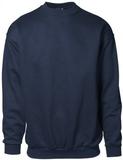 Klassisk Sweatshirt - 100% Bomull (S,Svart)