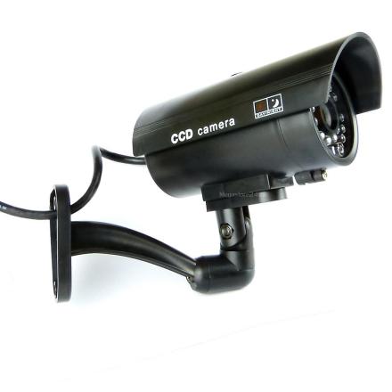 Innendørs / utendørs Dummy falsk sikkerhet Cctv kamera med blinkend...