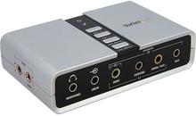 7.1 USB-audio-adapter externt ljudkort med SPDIF digital audio