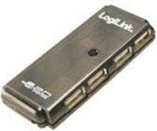 USB2.0 Hub slim - 4 Ports USB hub - 4 porttia - USB 2.0 - Musta