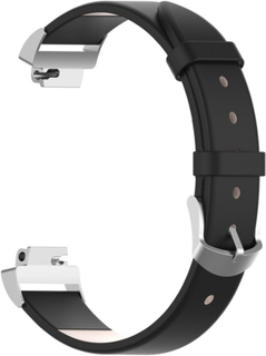 Fitbit Inspire / Inspire HR leather watch band - Black