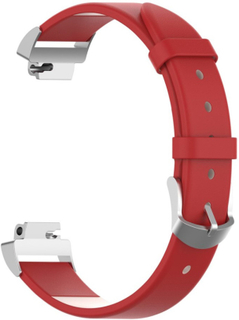 Fitbit Inspire / Inspire HR leather watch band - Red