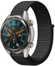 Huawei Watch Gt / Klokke 2 Pro / Watch Magiske 22mm Nylon Klokkereim - Svart