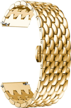 Samsung Galaxy Watch 46mm / Gear S3 Frontier / S3 Classic 22mm alloy watch band - Gold