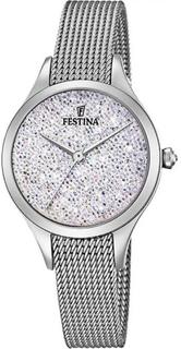 Festina klocka Miss F20336-1 - klocka analog stål Silver kvinna