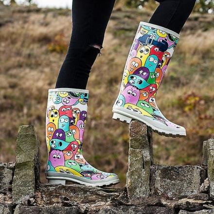 Spylovebuy MINION flade Festival gummistøvler Wellington regn støvl... - Fruugo