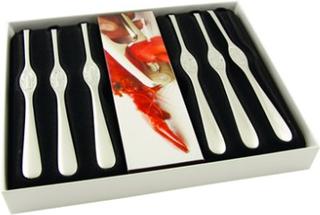 Hardanger Bestikk Skalldyrsgaffler med knekker 6 stk