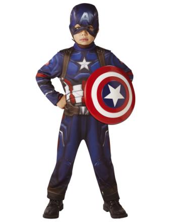 Captain America dräkt med sköld Barn
