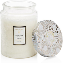 Embossed Large Glass Scented Candle Mokara