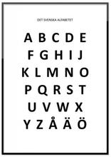 Poster - Det svenska alfabetet (21x30 cm)