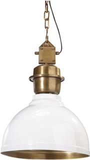 PR Home - Manchester Taklampe 35 cm Hvit/Messing