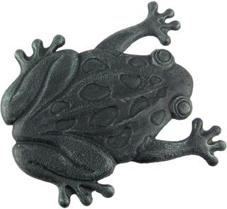 Zeckos Cast Iron Frog hage Stepping stein trinn fliser Grønn One Size
