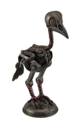 Steampunk Crow skjelett antikk bronse Finish statuen