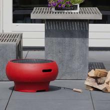 BBGRILL bærbar barbecue rød BBQ TUB-R