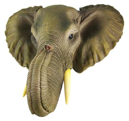 Afrikanske elefanter leder Mount veggen Statue Mini byste 9 i.