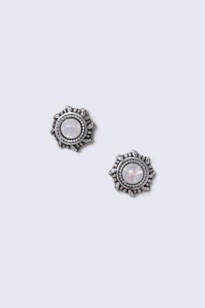 Sterling Silver Opal Look Studs