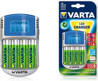 Laddare till batterier från Varta AAA och AA