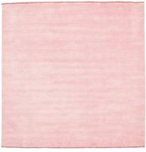 Handloom fringes - Rosa matta 200x200 Modern, Kvadratisk Matta