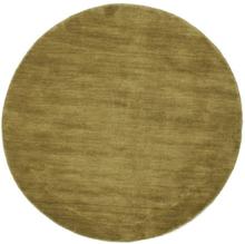 Handloom - Olivengrønn teppe Ø 200 Moderne, Rund Teppe