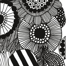 Siirtolapuutarha kangas valkoinen-musta