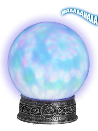 Spågummans kristallkula One-size