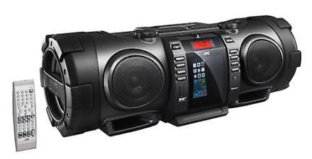 JVC Bluetooth transportabel CD Boomblaster med lyn Dock og DAB (RVN...
