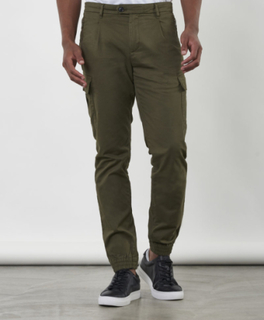 Pleated Cargo Pant Army