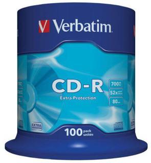 CD-R VERBATIM 700MB 100/FP