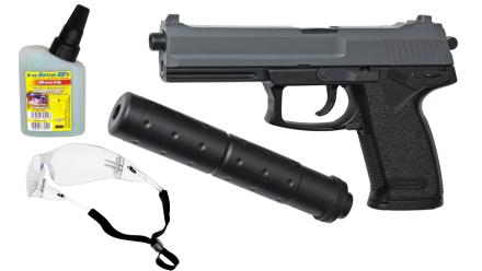 Softairgun Pistol Kit Fjäder ASG DL 60 SOCOM - with silencer