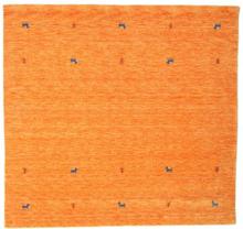 Gabbeh loom Two Lines - Orange matta 200x200 Orientalisk, Kvadratisk Matta