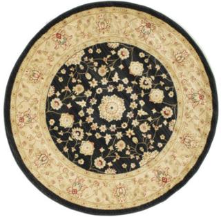 Farahan Ziegler - Svart matta Ø 150 Orientalisk, Rund Matta