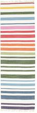 Rainbow Stripe - Vit matta 80x250 Modern, Avlång Matta