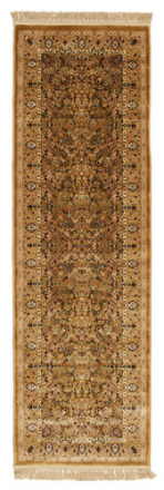 Kerman Diba - Brun matta 80x250 Orientalisk, Avlång Matta