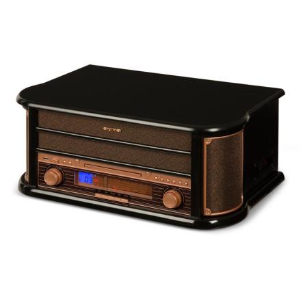 Belle Epoque 1908 Retro-Stereoanläggning Skivspelare USB CD MP3 Mikroanläggning