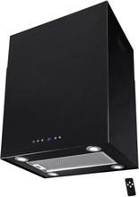 Lyx vägghängd skåp köksfläkt SEMPRE 40cm / 60cm svart - svart - 40 cm